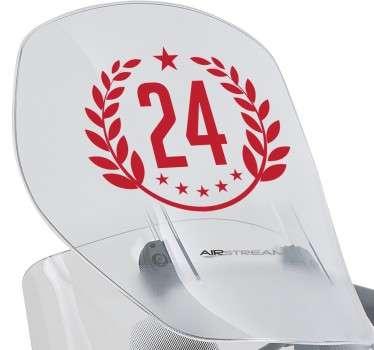 Customisable Laurel Number Sticker