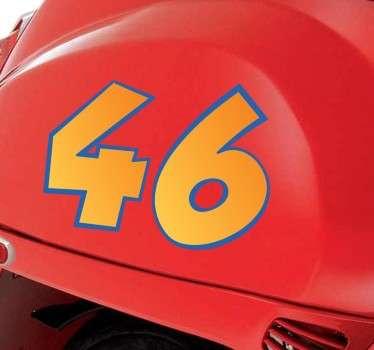 Naklejka z numerem na motor