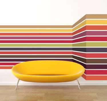 3D Lines Modern Wall Sticker