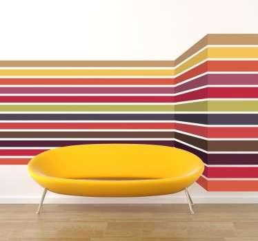 3D gekleurde lijnen sticker