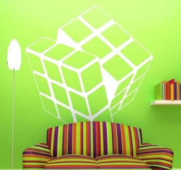 Monochrome Rubik Cube Sticker