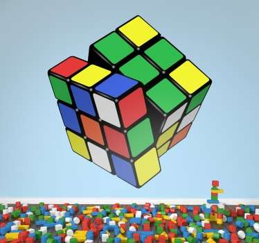 Sticker 3D Rubik´s kubus kleur