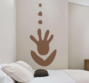 Sticker decorativo illustrazione tribale mano