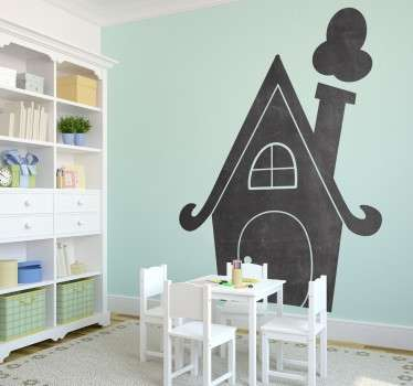 Original house shaped blackboard sticker to decorate your children's rooms with this special sticker that shows the silhouette of a house.