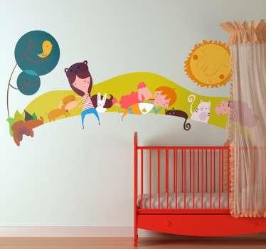 Children's Animal Landscape Sticker