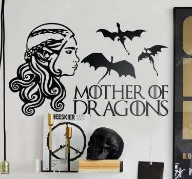 Adesivo Madre dei draghi