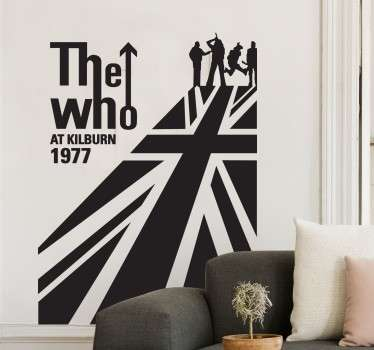 Vinilo decorativo The Who bandera