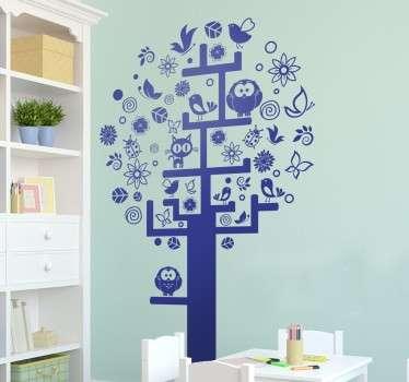 Vinilo decorativo árbol muy poblado