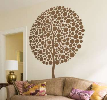 Naklejka okragłe drzewo