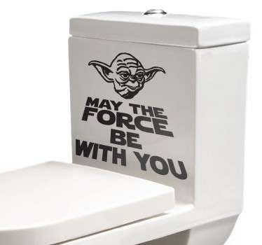 Yoda May The Force Toilet Sticker