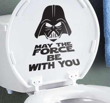 Adesivo para WC Darth Vader
