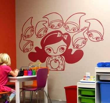 Sticker murale Biancaneve e i 7 nani