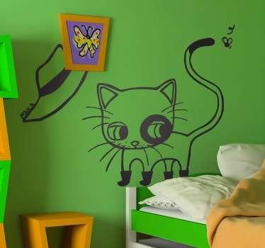 Wall sticker gatto con gli  stivali