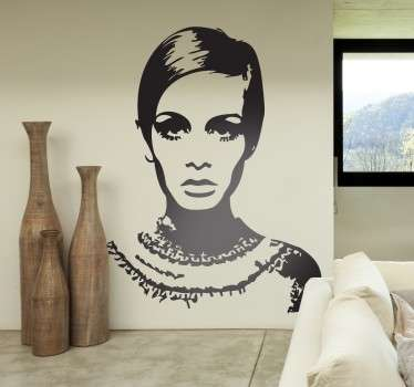 Vinilo decorativo retrato Twiggy