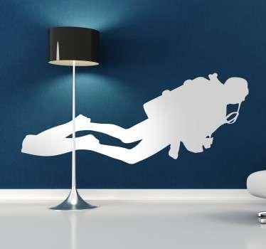 Potápěč silhouette samolepka