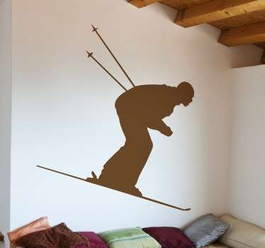 Wall sticker silhouette sciatore