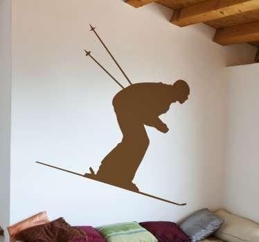 Vinil decorativo silhueta de esquiador