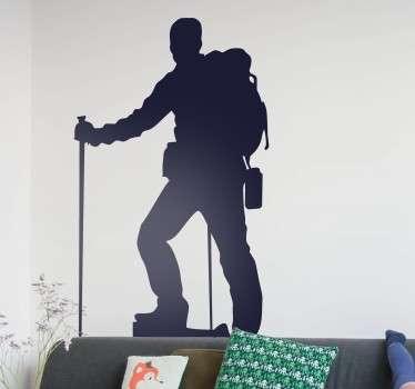 Horolezec silhouette samolepka