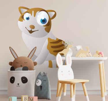 Sticker enfant animal chaton