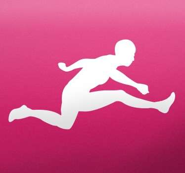 Hurdle Jumper Silhouette Sticker