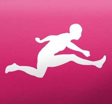 Naklejka sportowiec w wysoku