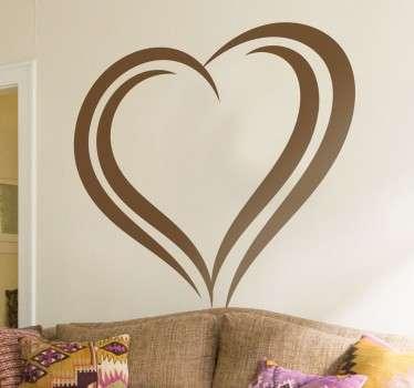 Sticker forme coeur simple