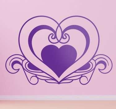 Vinil decorativo amor coração elegante