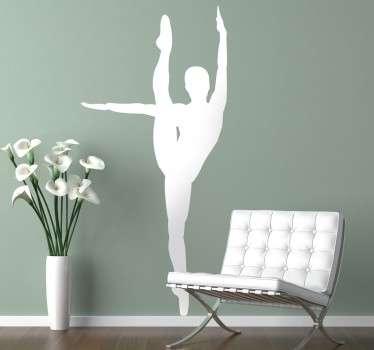 Wall sicker ballerina