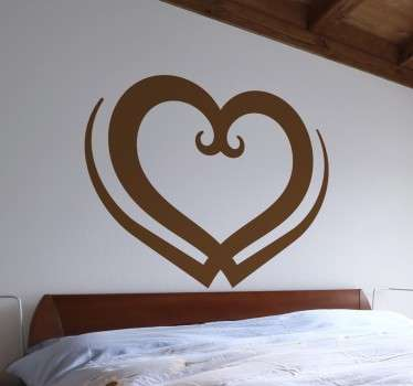 Herz Liebe Sticker verziert