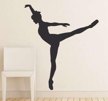 Dans danseres op tenen ballet sticker
