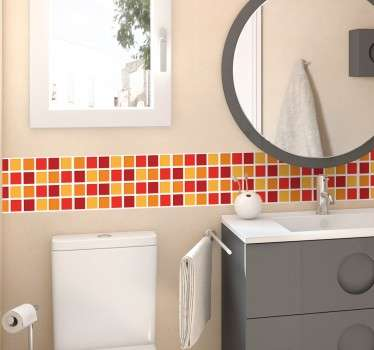 Warm Colours Bathroom Tile Sticker
