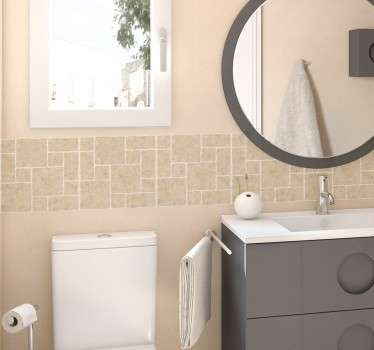 Sticker salle de bains frise faïence