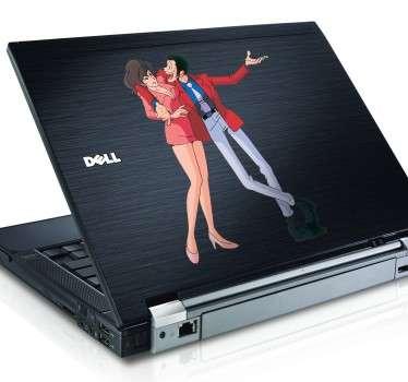 Lupin and Fujiko Laptop Sticker