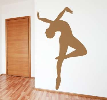 Decorative Ballerina silhouette sticker ideal for all those who love the world of dance, in particular the art of ballet. The ballerina wall sticker is easy to apply