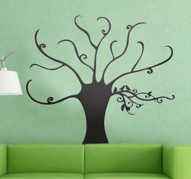 Original decal illustrating an elegant tree. Decorate any room in your home with this special vinyl sticker fully customisable in sizes and colours.