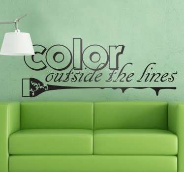 Colour Outside The Lines Decorative Sticker