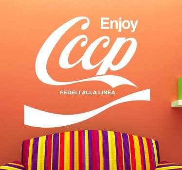 Vinilo decorativo enjoy cccp