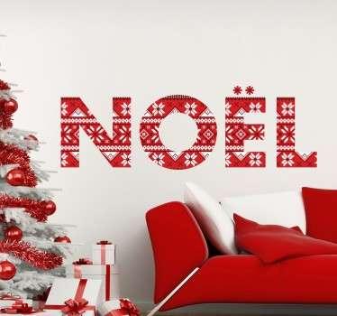 """Sticker texte """"Noël"""" idéal pour décorer votre intérieur lors des vacances et pour célébrer les fêtes de fin d'année."""