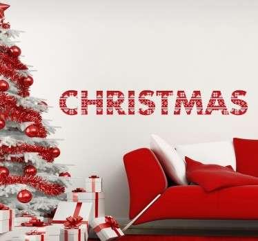 Kerstmis print tekst sticker