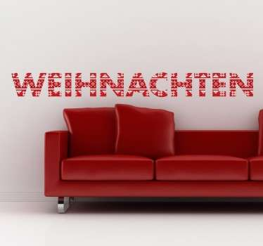 Weihnachten Text Sticker