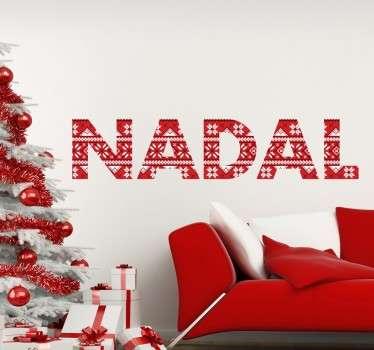 Adhesivos para decoración del hogar con motivos navideños en este caso con un texto en catalán.