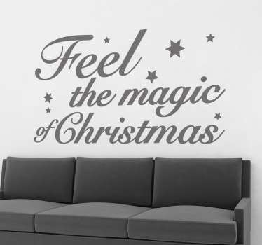 Feel The Magic Christmas Decal