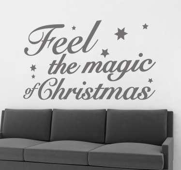 Feel The Magic Christmas Decal