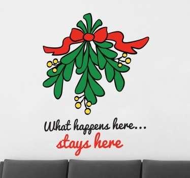 Naklejka świąteczna bajkowa jemioła