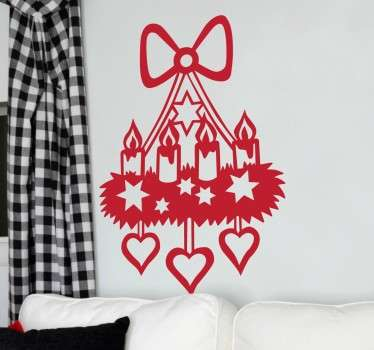 Christmas Candle Lamp Decorative Decal