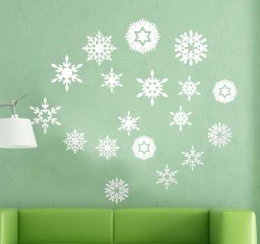 Sněhové vločky vánoční nálepka