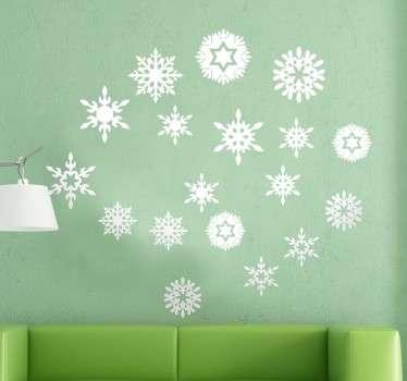 Sticker flocons de neige