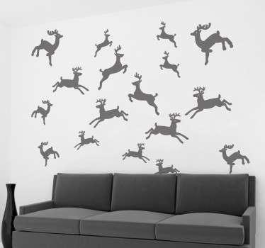 Reindeer Collection Christmas Decal
