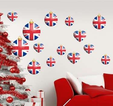 A set of Christmas stickers to decorate your walls or any smooth surface during this special season.