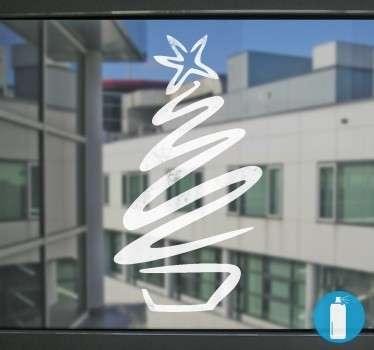 Vetrofania Albero di Natale Effetto Neve
